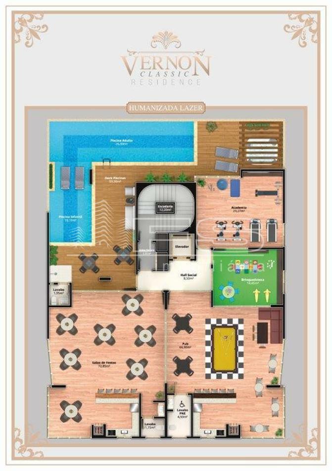 Apartamento com 3 Dormitórios à venda, 130 m² por R$ 1.300.000,00