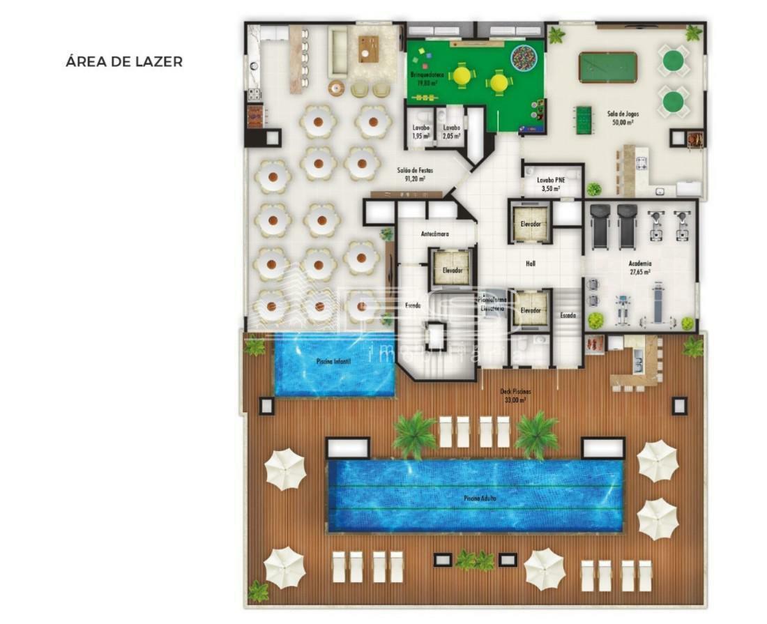 Apartamento com 3 Dormitórios à venda, 70 m² por R$ 605.000,00