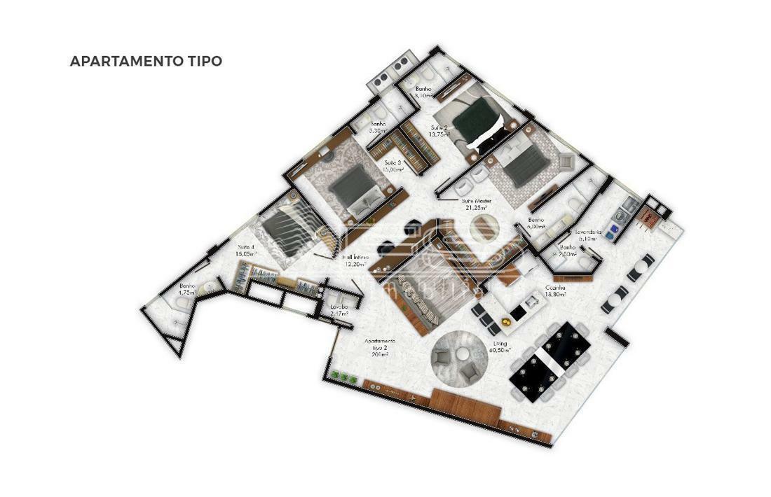 Apartamento com 4 Dormitórios à venda, 200 m² por R$ 5.311.000,00