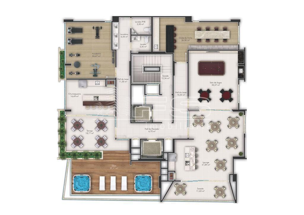 Apartamento com 3 Dormitórios à venda, 137 m² por R$ 957.764,00